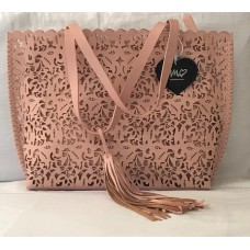 Imoshion Bags - Vegan Leather Laser Cutout Blush Handbag